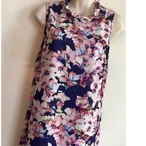 Cynthia Rowley - purple floral dress- Size 6